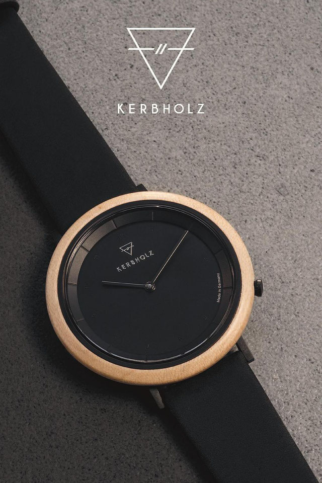 Kerbholz Uhr slim